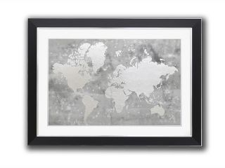 Pictures Silver foil world map