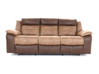 Bonita 3 seater (double manual recliners) - type Fabric