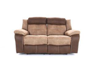 Bonita 2 seater (double manual recliners) - type Fabric