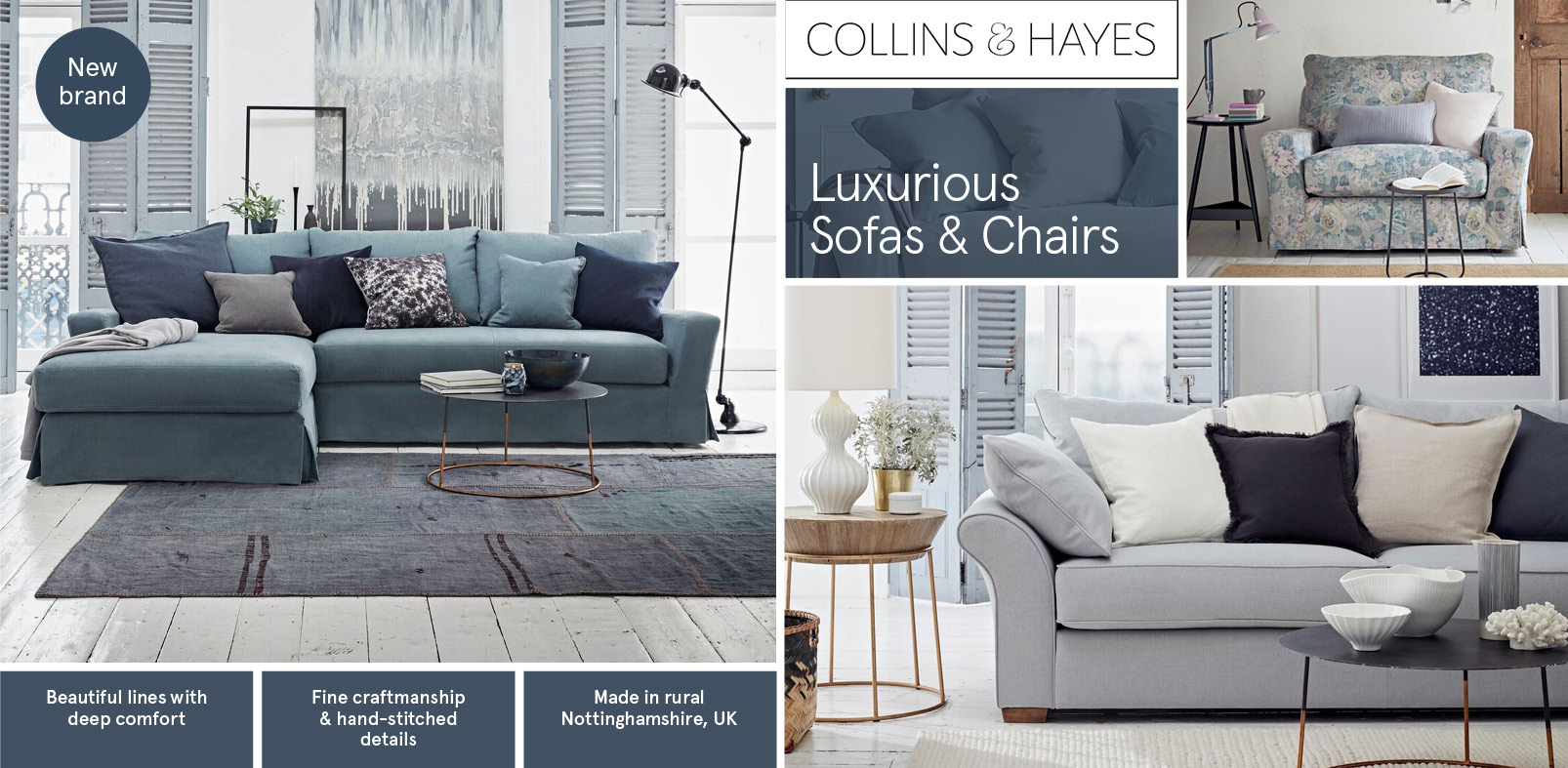 Collins and Hayes Brand Page