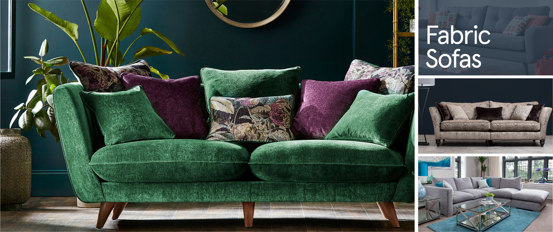 All Fabric Sofa Ranges