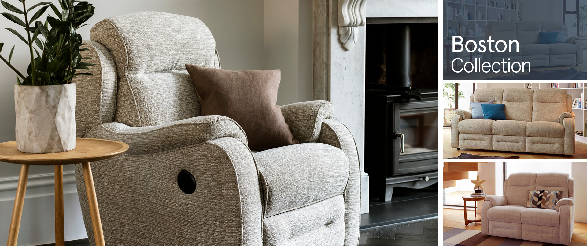 Boston Fabric Sofa Ranges