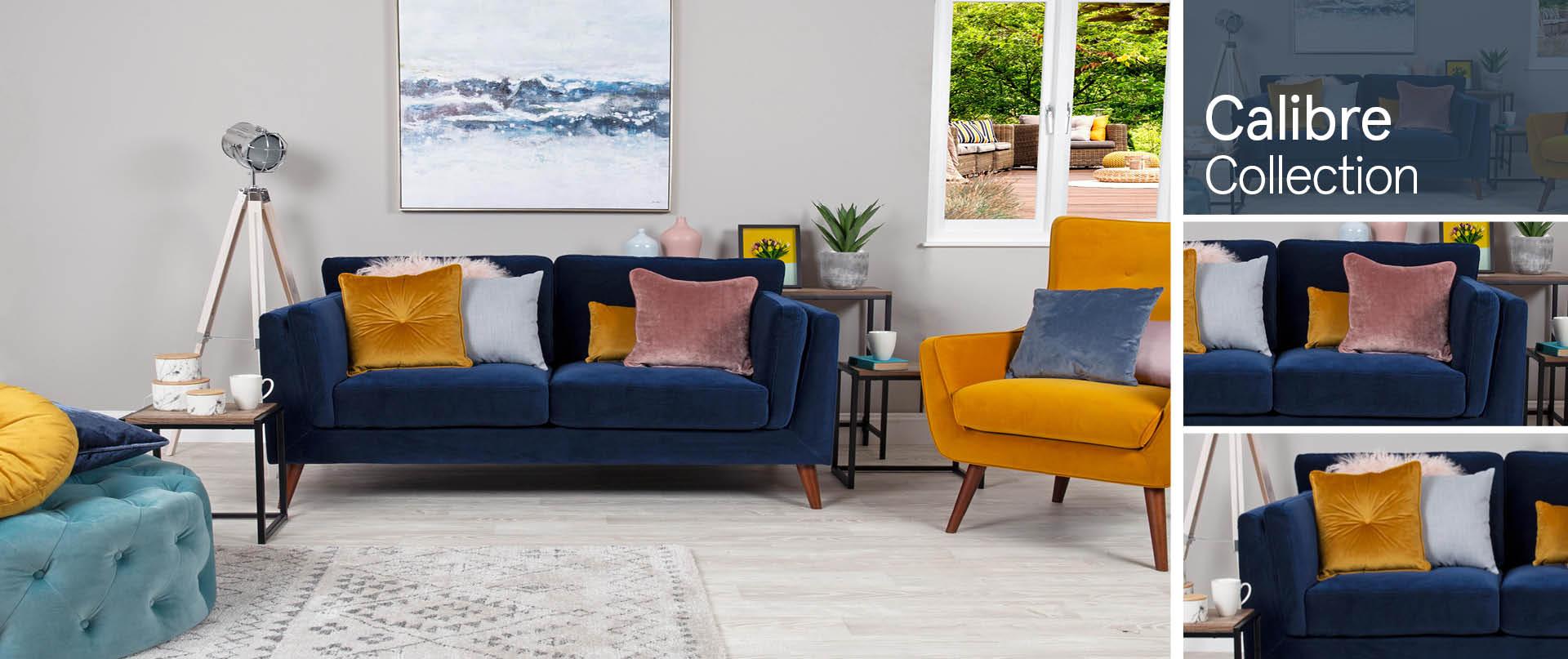 Calibre Fabric Sofas Ranges