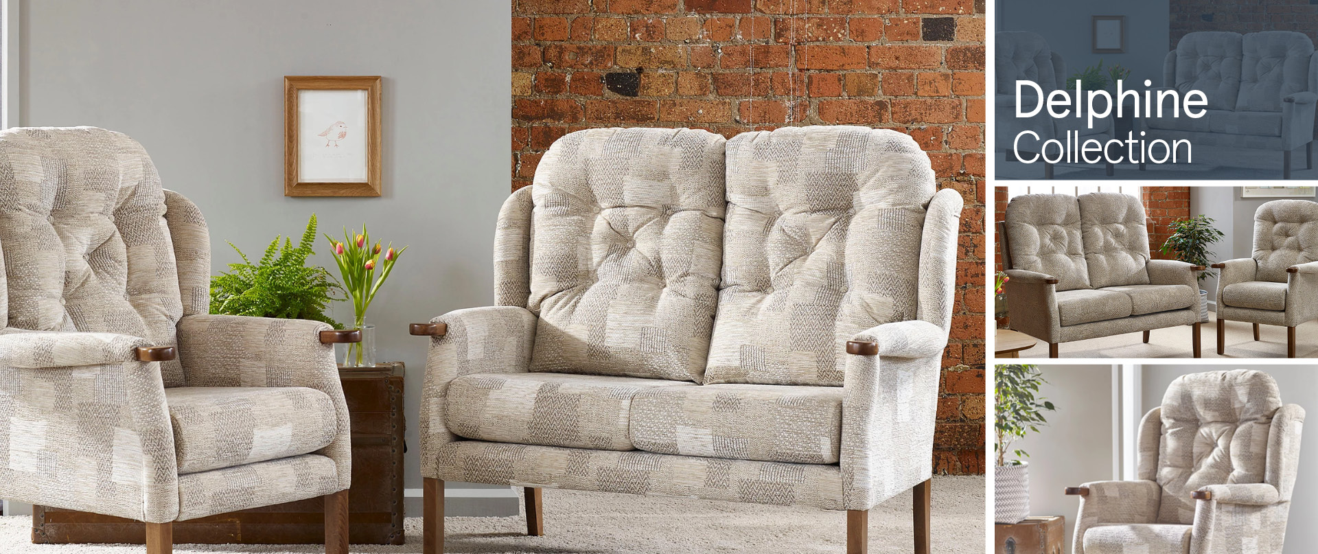 Delphine Fabric Sofa Ranges