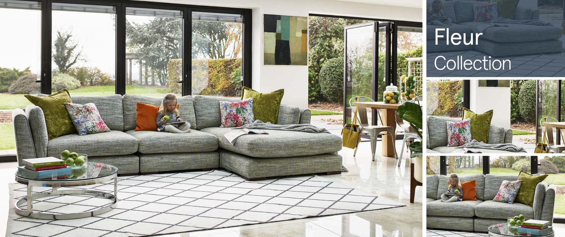 Fleur Fabric Sofas Ranges