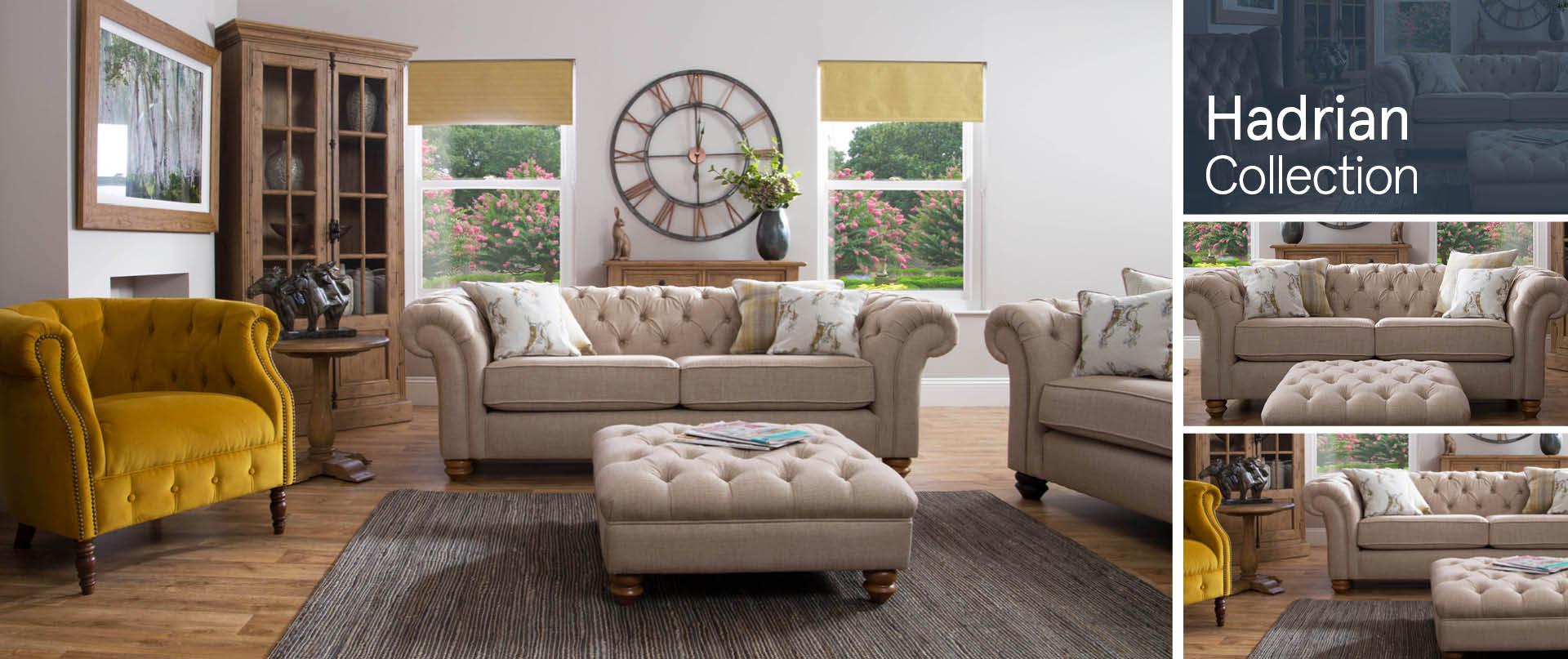 Hadrian Fabric Sofa Ranges