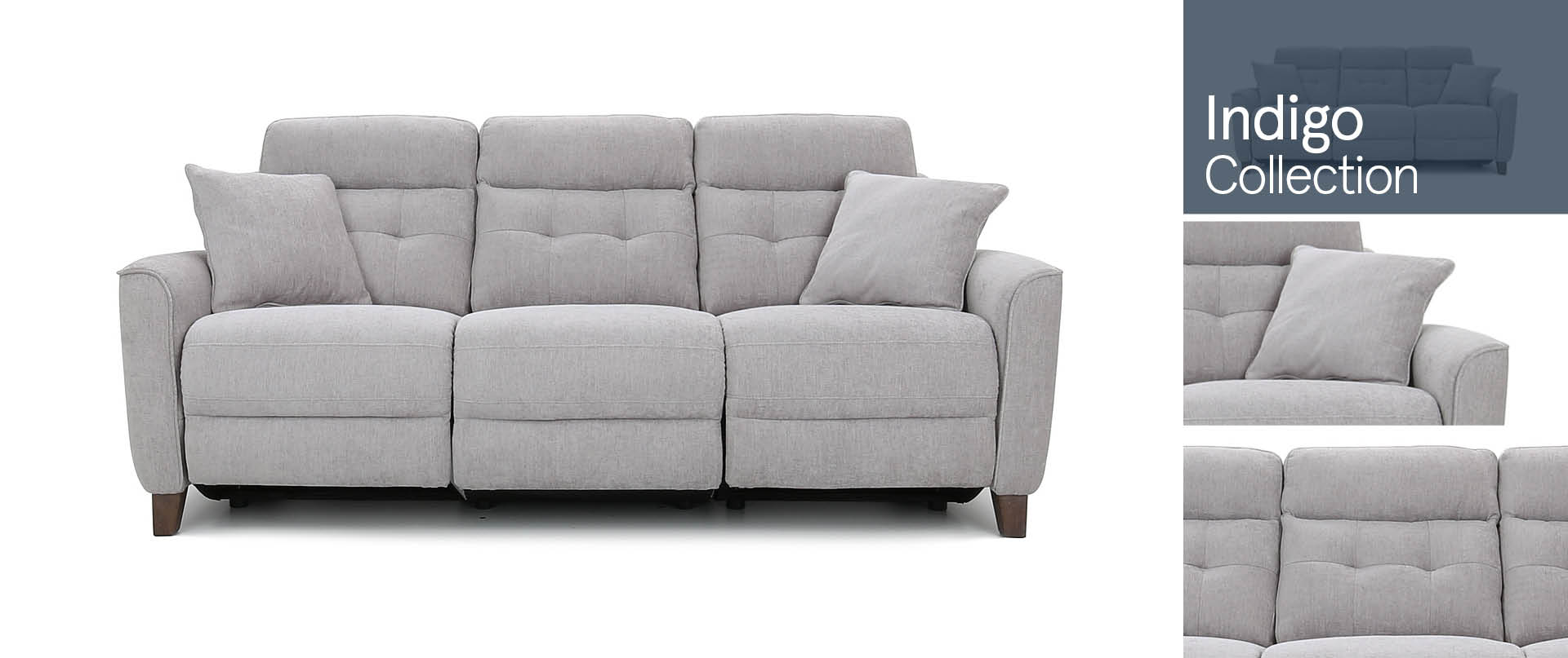 Indigo All Fabric Sofa Ranges