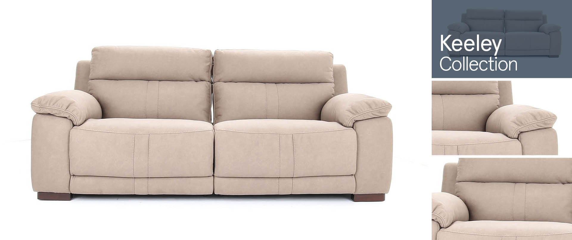 Keeley All Fabric Sofa Ranges
