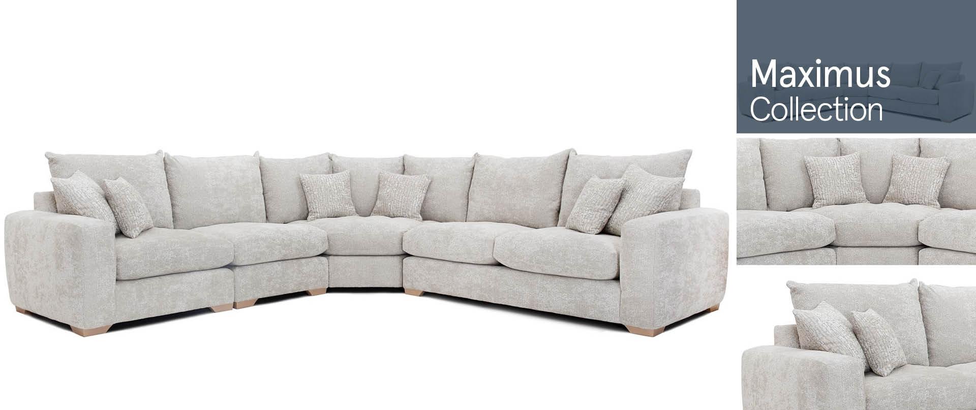 Maximus All Fabric Sofa Ranges