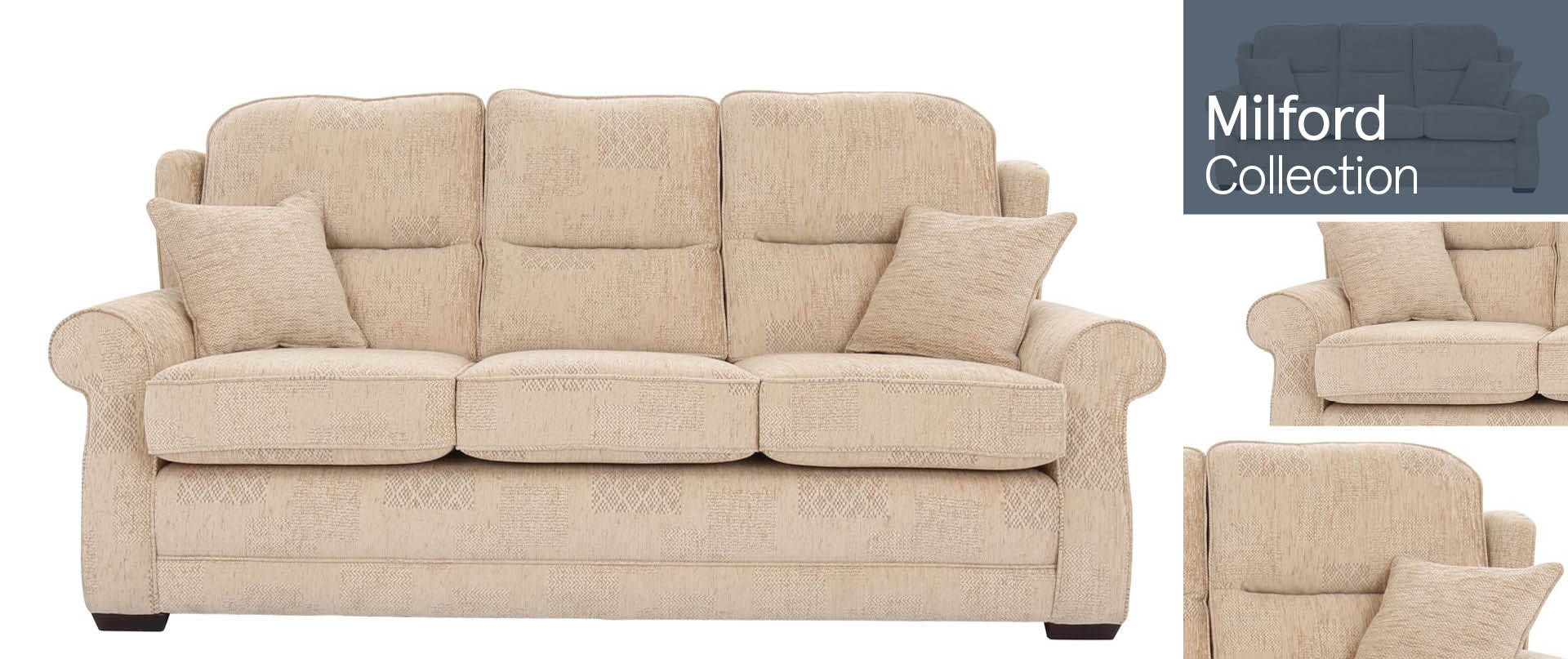 Milford All Fabric Sofa Ranges