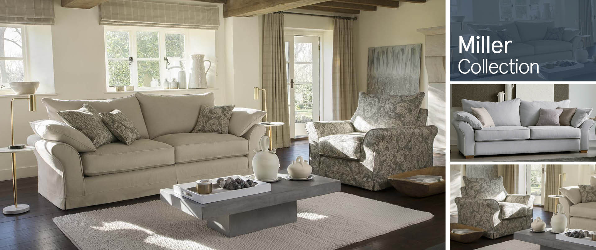 Miller Fabric Sofas Ranges