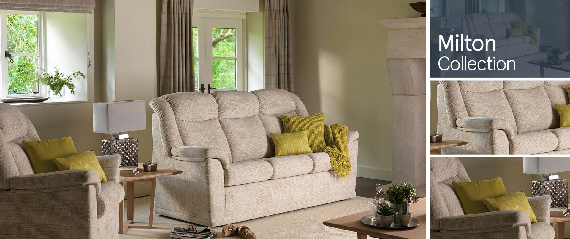 Milton All Fabric Sofa Ranges