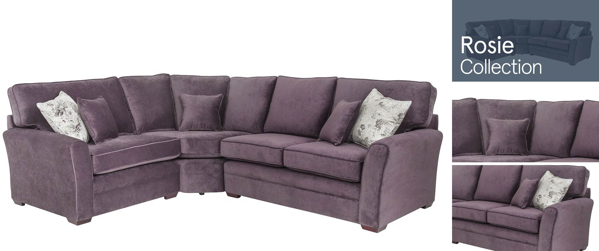 Rosie All Fabric Sofa Ranges