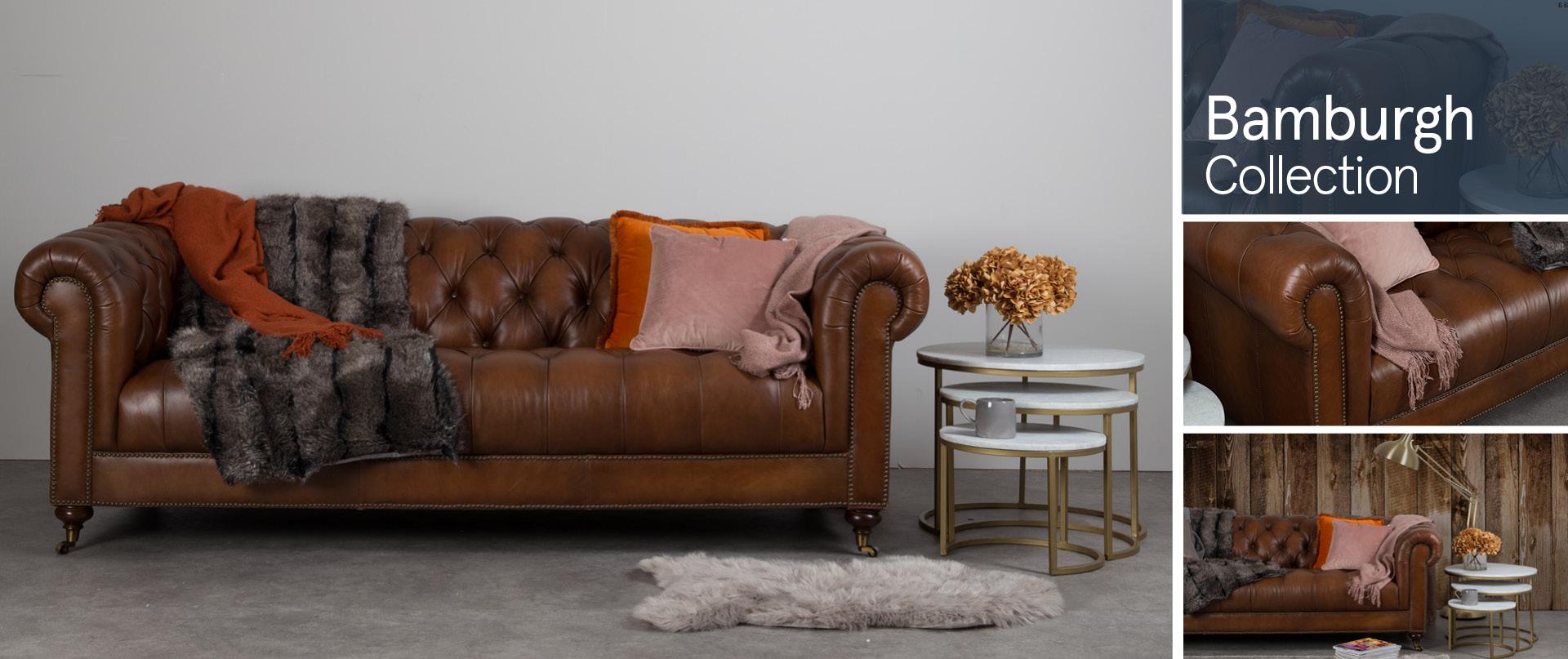 Bamburgh Leather Sofa Ranges