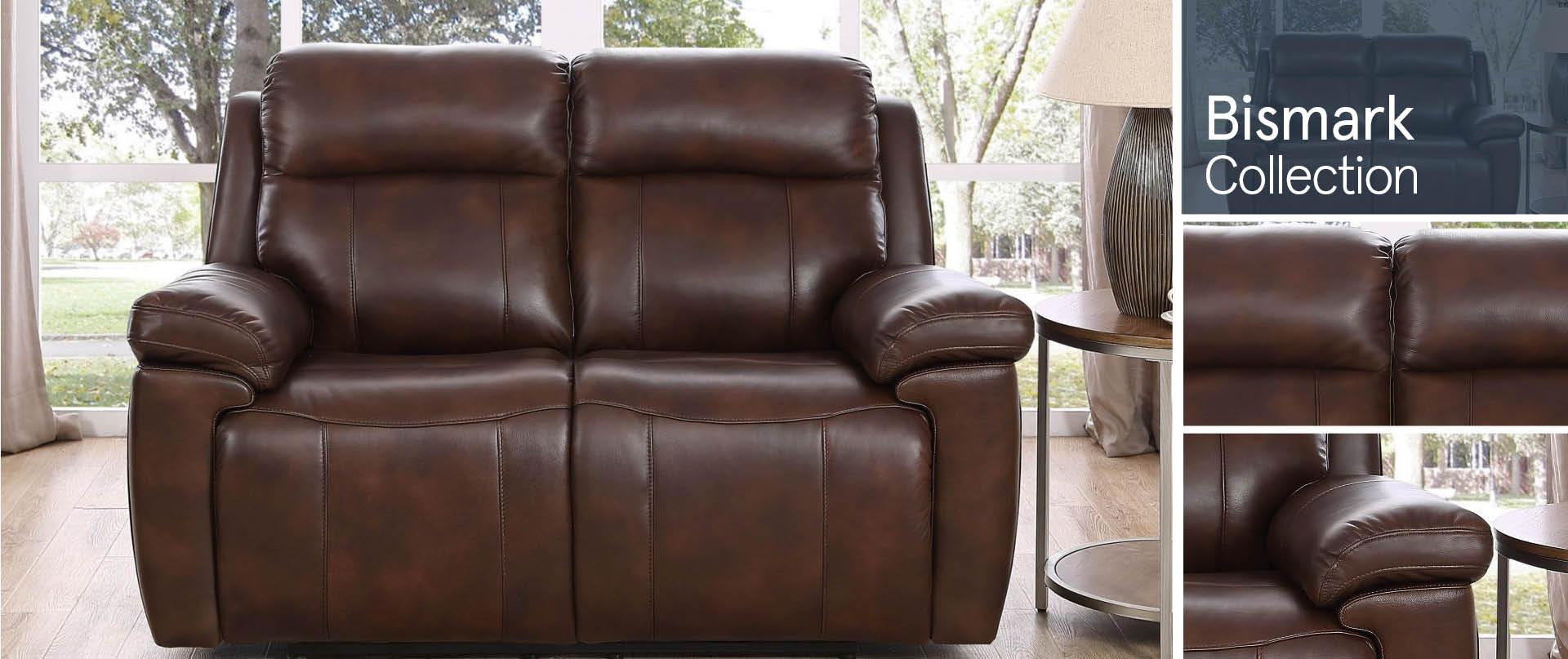 Bismark Leather Sofa Ranges