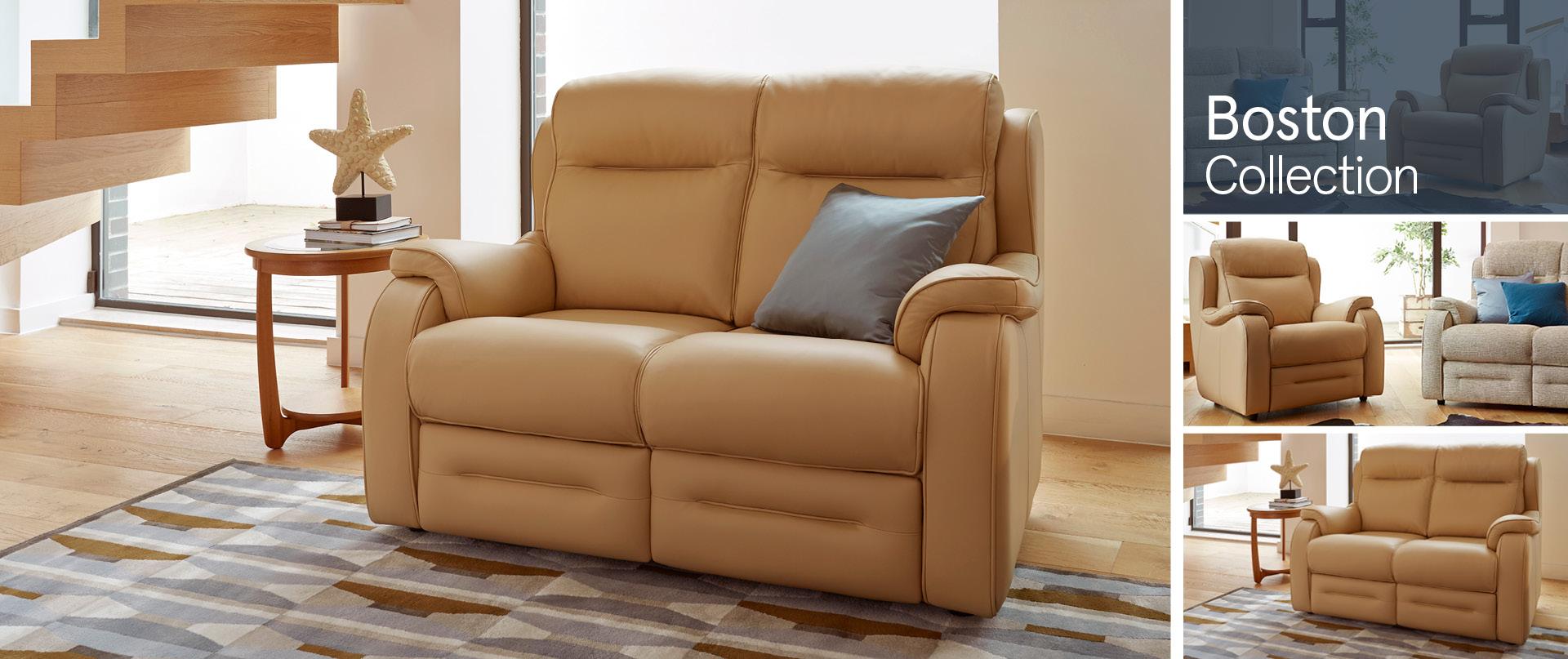 Boston Leather Sofa Ranges