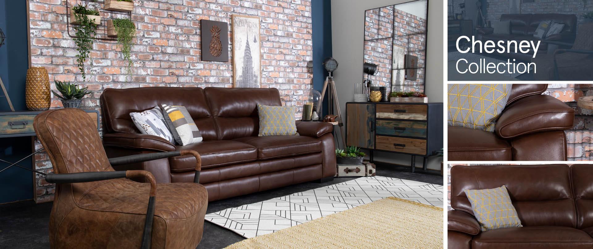 Chesney Leather Sofas Ranges