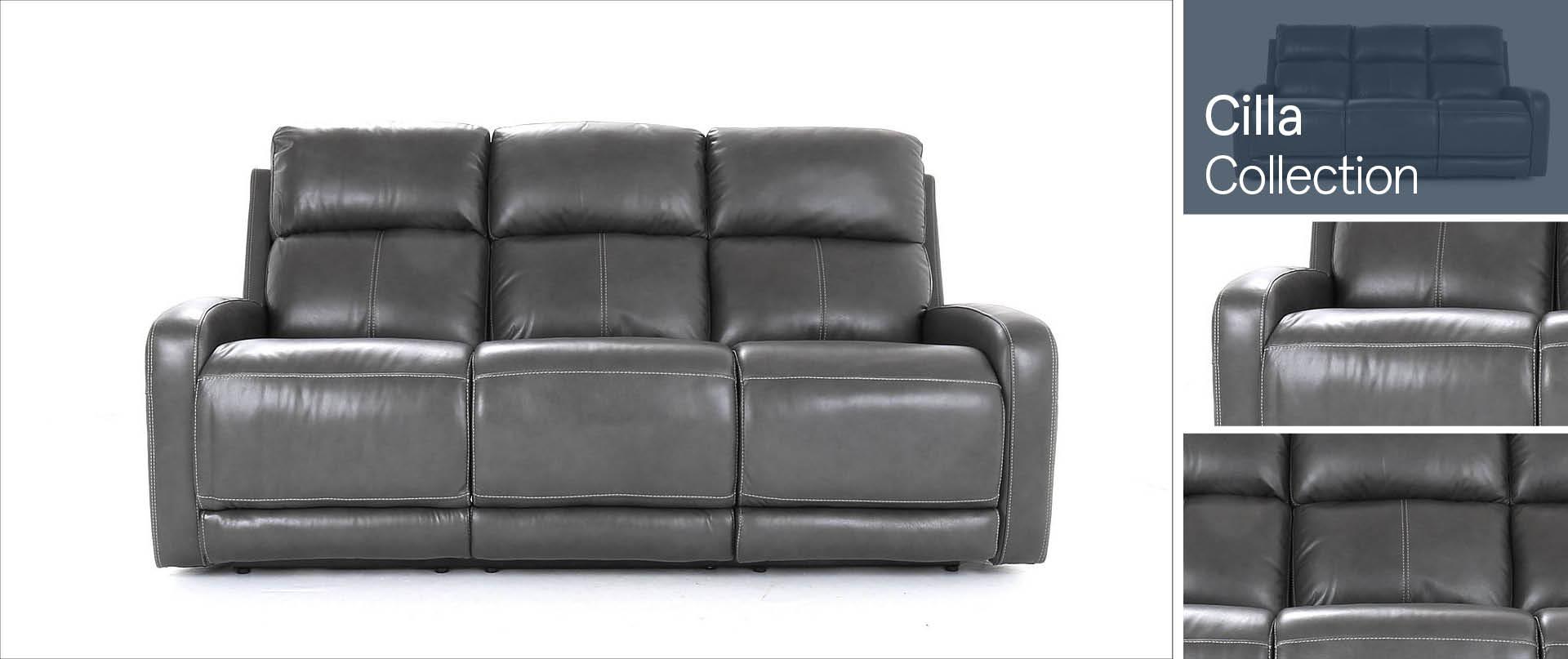 Cilla Leather Sofa Ranges