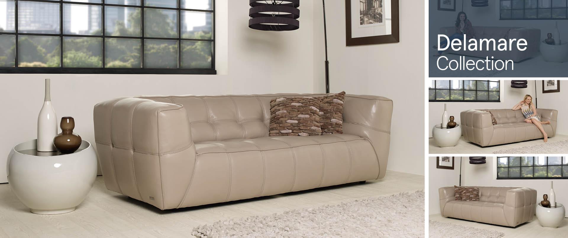 Delamare All Leather Sofa Ranges