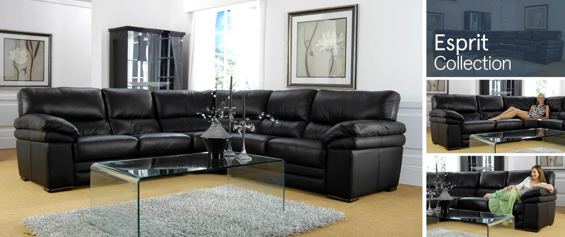 Esprit Leather Sofa Ranges