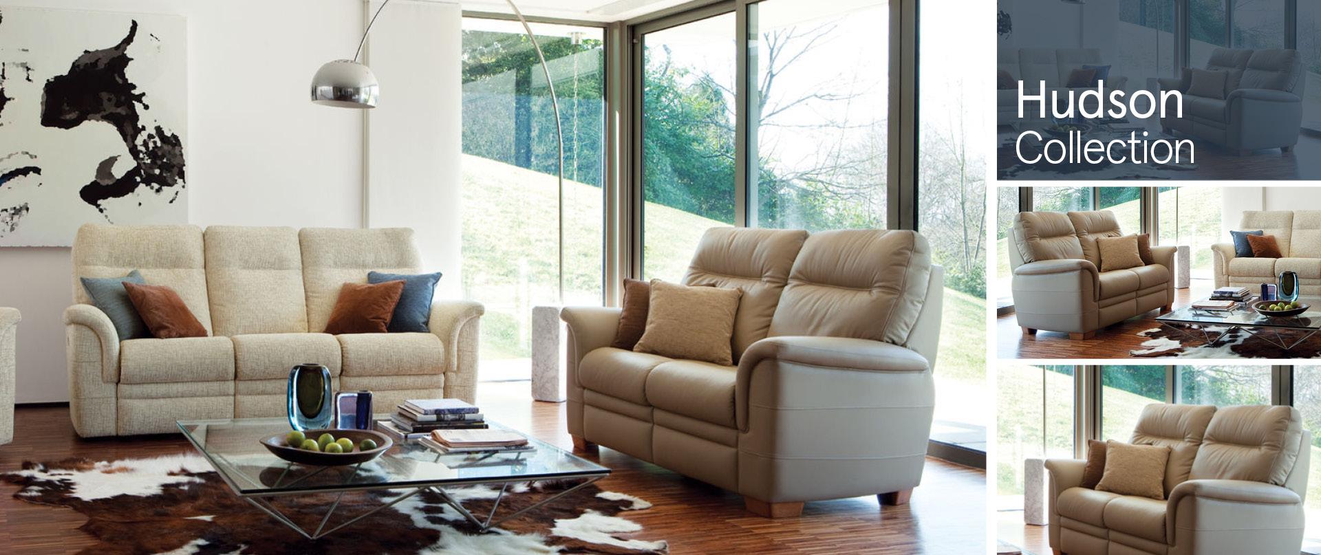 Hudson Leather Sofa Ranges