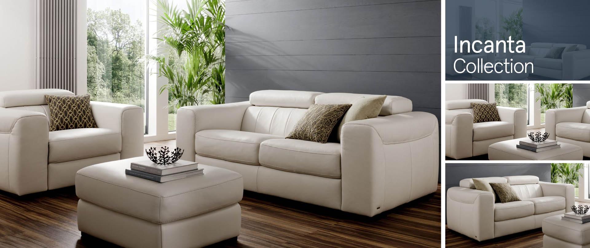 Incanta Leather Sofa Ranges
