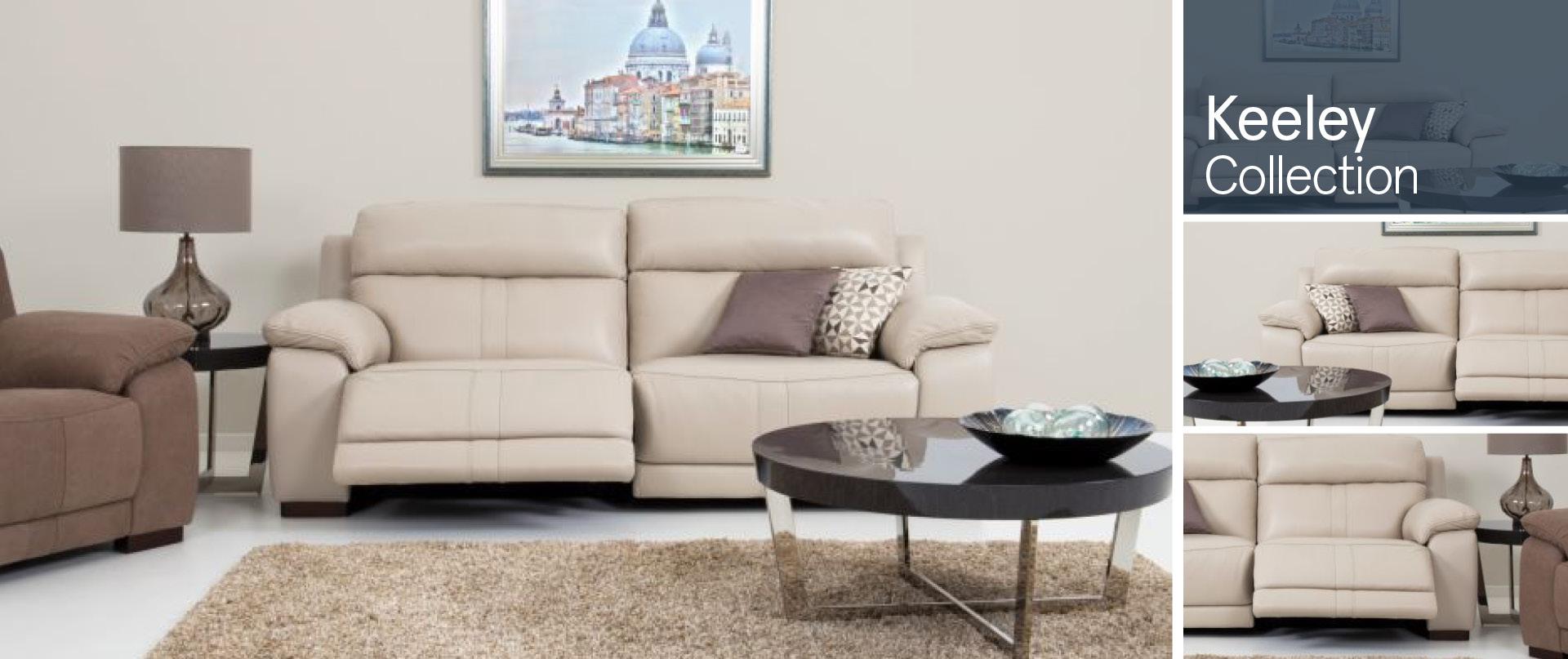 Keeley Leather Sofa Ranges