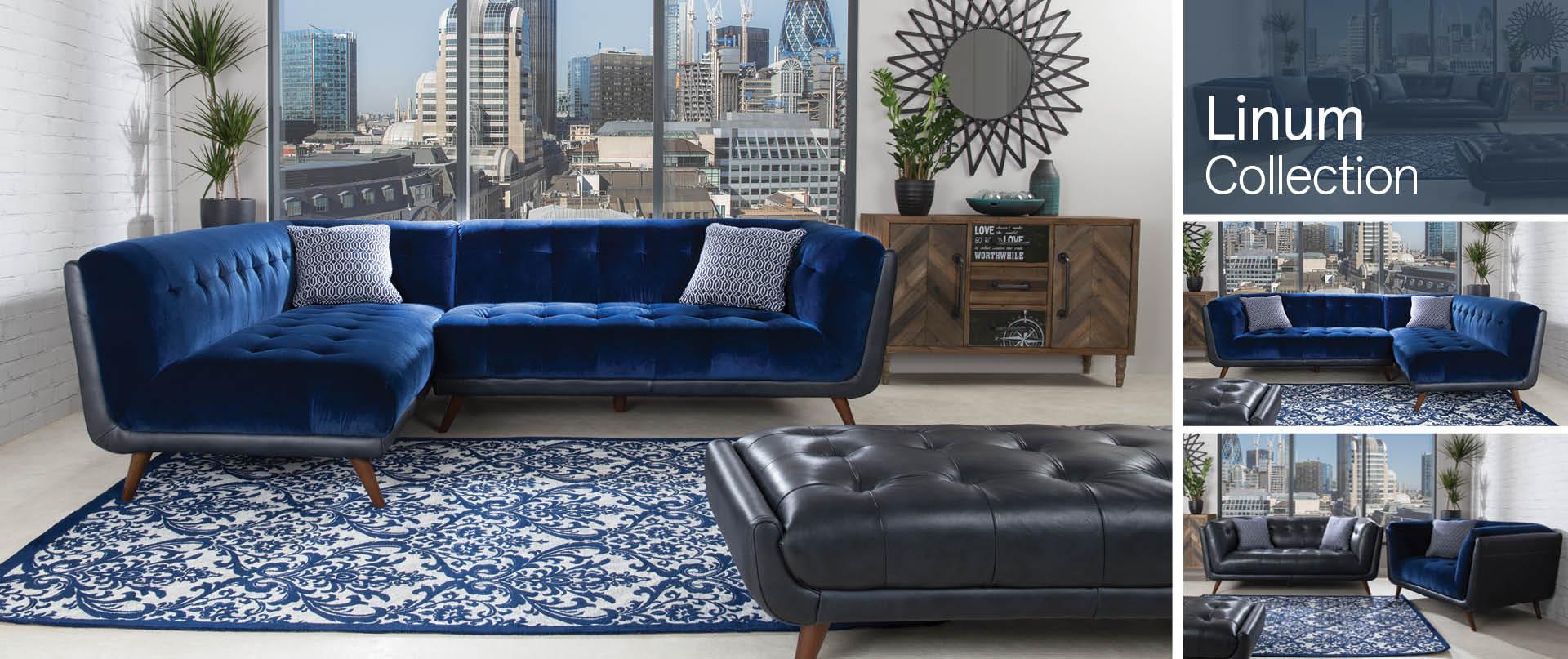 Linum Leather Sofa Ranges
