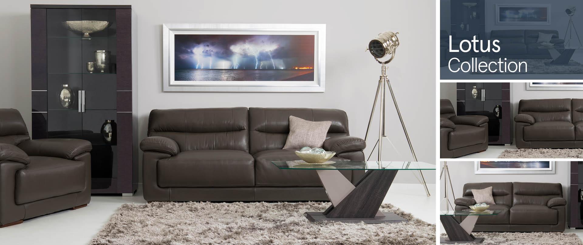 Lotus Leather Sofa Ranges