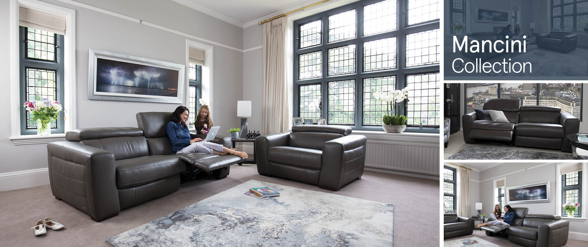 Mancini Leather Sofa Ranges