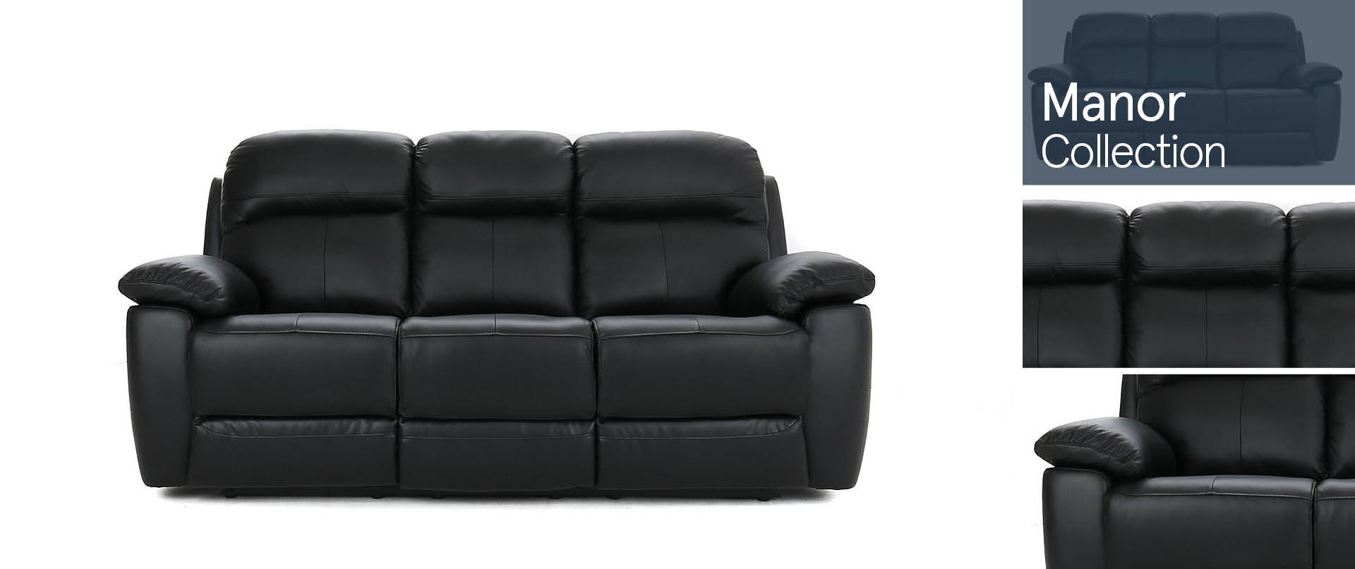 Manor Leather Sofa Ranges