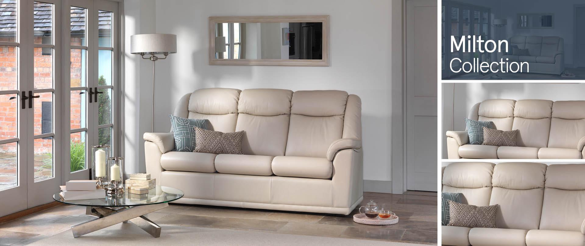 Milton Leather Sofa Ranges