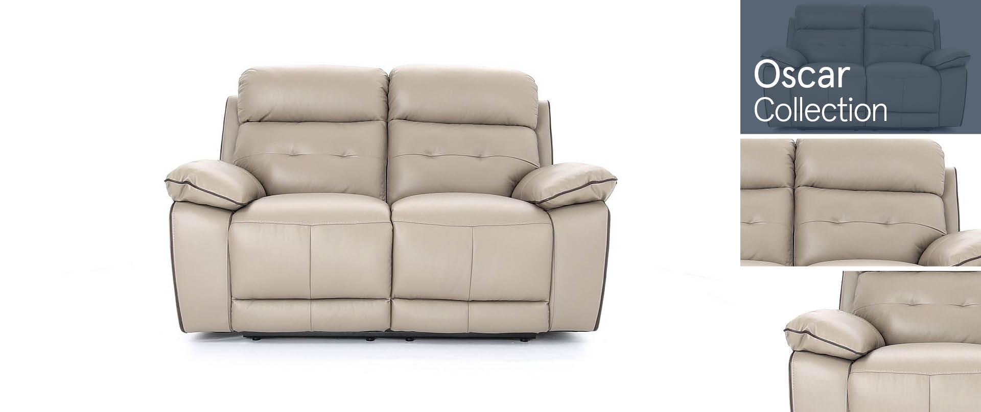 Oscar Leather Sofa Ranges