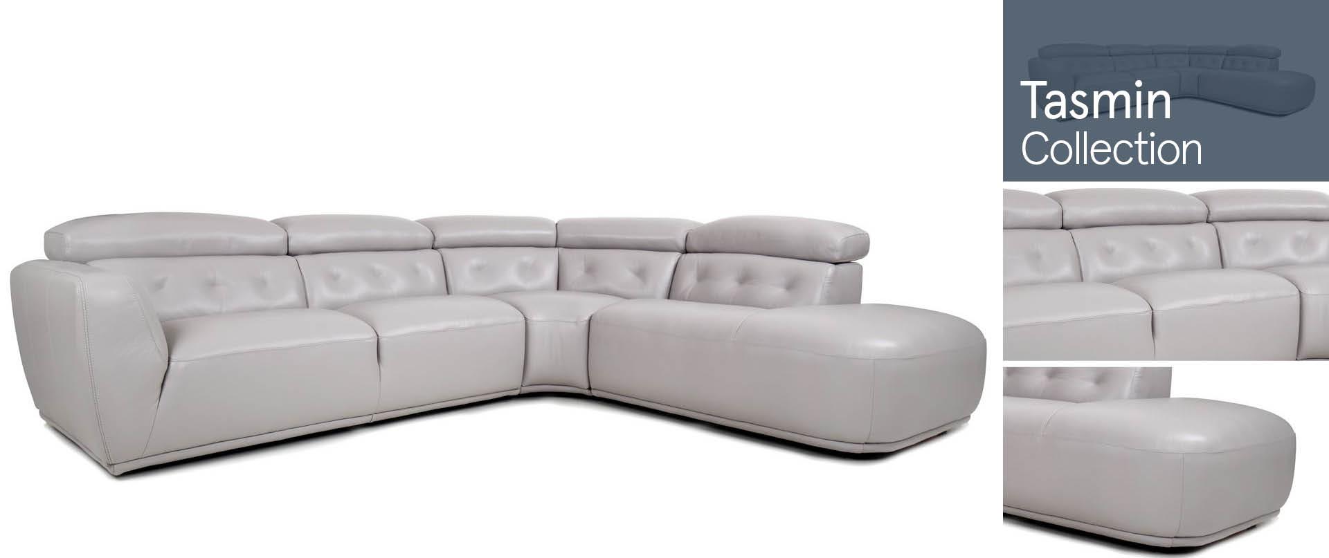 Tasmin Leather Sofa Ranges