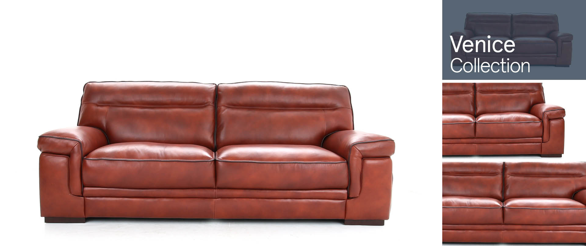 Venice Leather Sofa Ranges