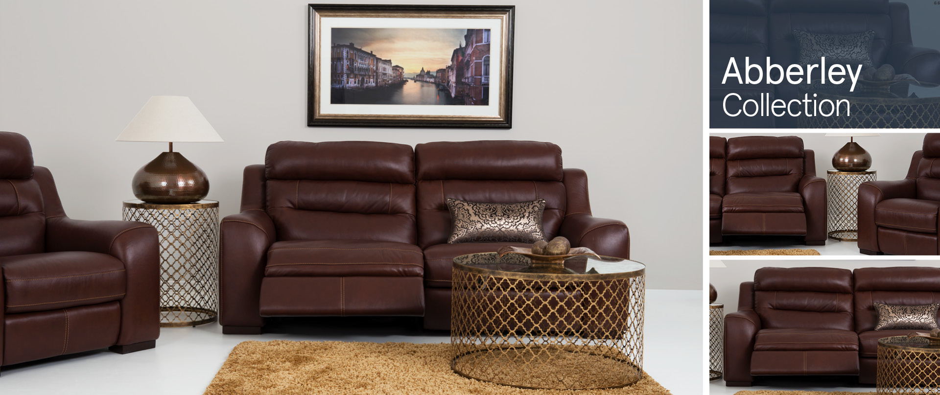 Abberley Leather Sofa Ranges
