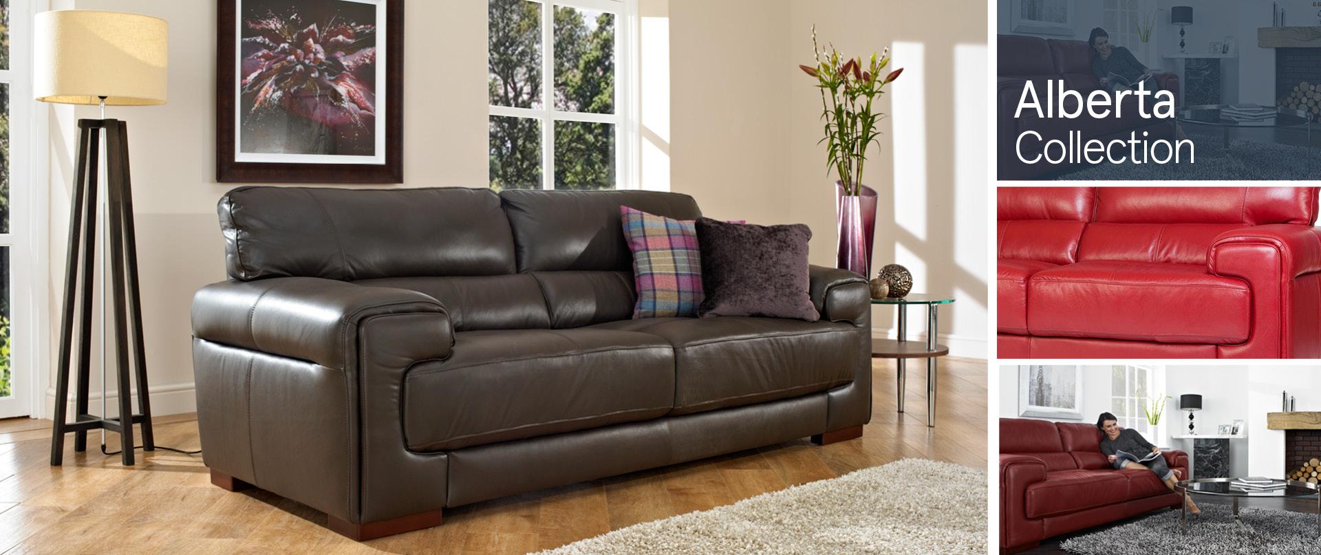 Alberta Leather Sofa Ranges