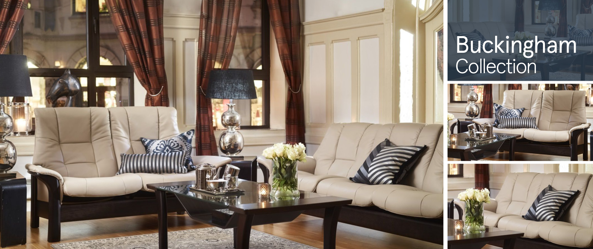 Buckingham Leather Sofa Ranges