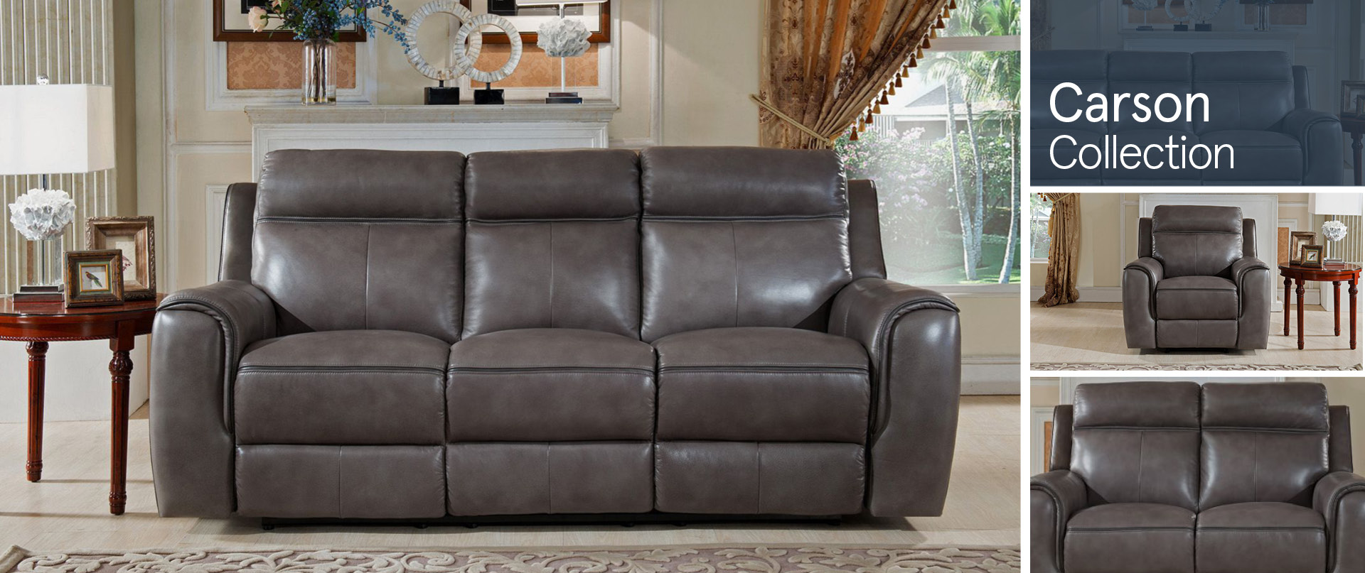 Carson Leather Sofa Ranges