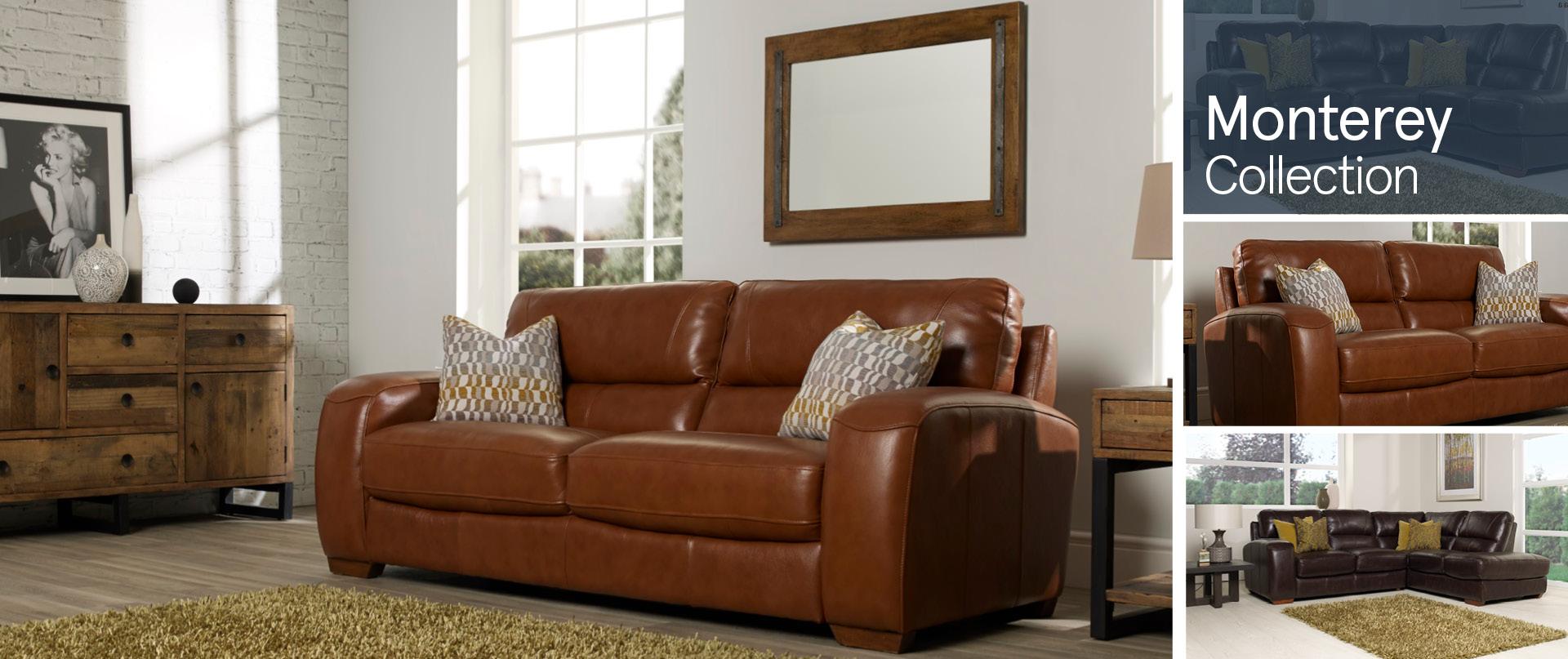 Monterey Leather Sofa Ranges