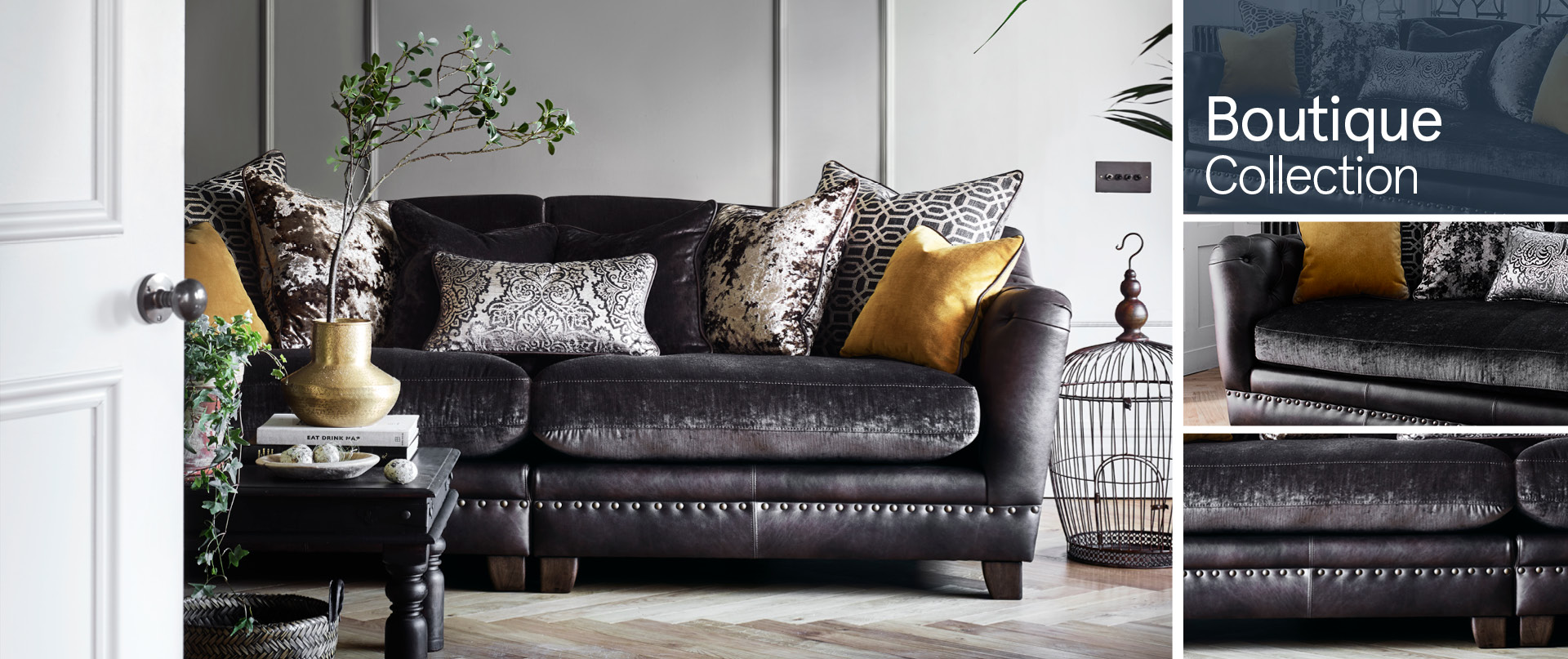Boutique All-Leather-and-Fabric-Mix-Sofas Ranges