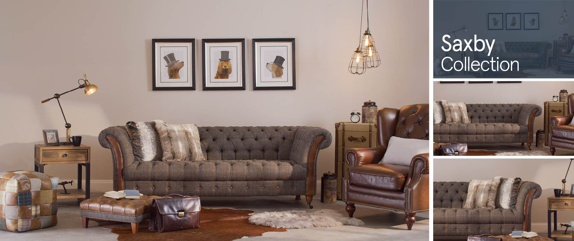 Saxby All-Leather-and-Fabric-Mix-Sofas-Ranges